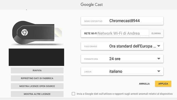 Come ripristinare Chromecast