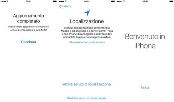 iPhone aggiornato