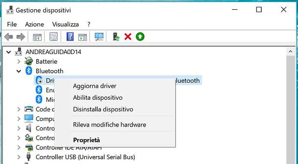 Abilitare Bluetooth sul PC