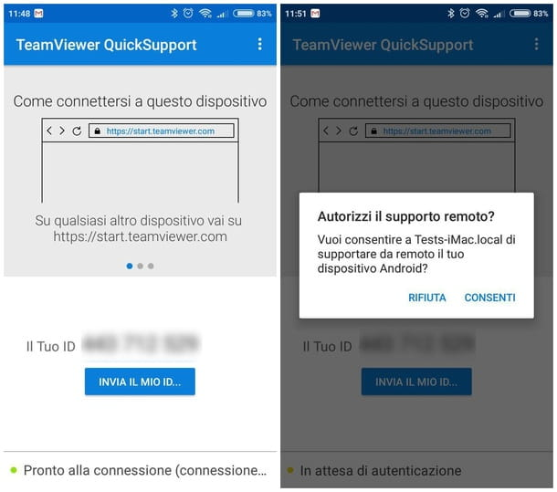 QuickSupport per Android