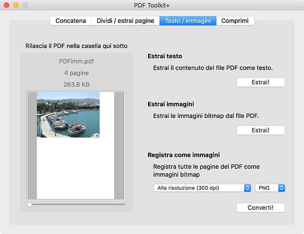 Come estrarre immagini da PDF Mac