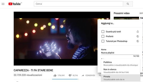 Come creare una playlist su YouTube