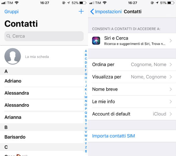 Come spostare i contatti da iPhone alla SIM