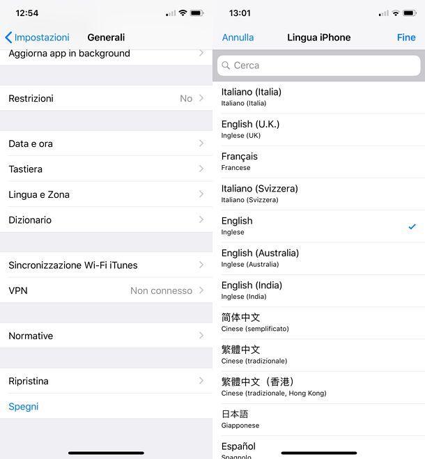 Come cambiare lingua su Outlook per iOS