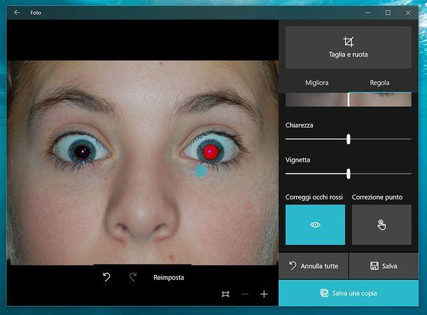 Come correggere gli occhi rossi su Windows 10