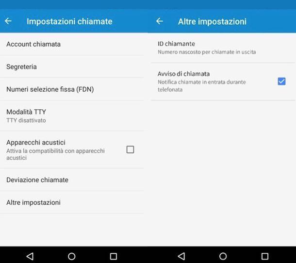 Come attivare avviso di chiamata Android