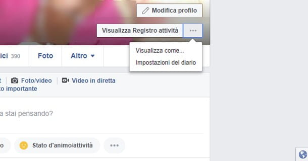 Come appare il mio profilo Facebook