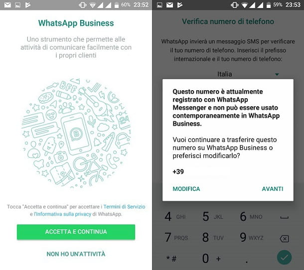 Configurazione di WhatsApp Business