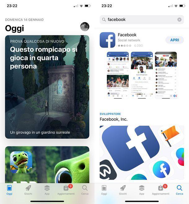 Come mettere l'icona di Facebook suiPhone