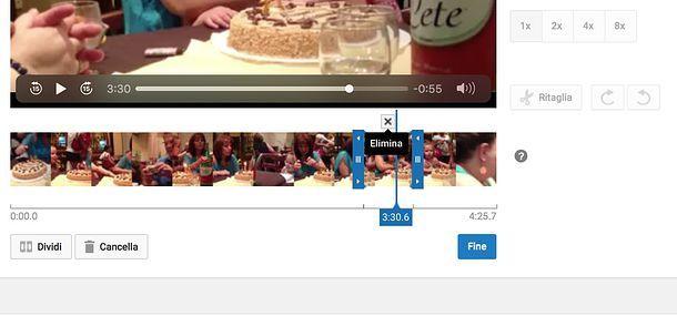 Come tagliare scene di un video in YouTube