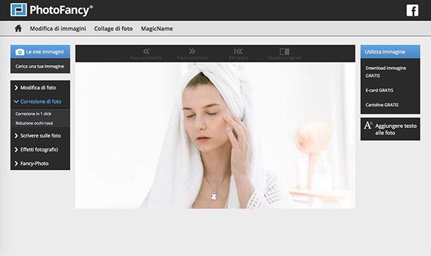 Come eliminare imperfezioni foto con PhotoFancy