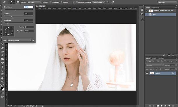 Come eliminare imperfezioni foto con Photoshop