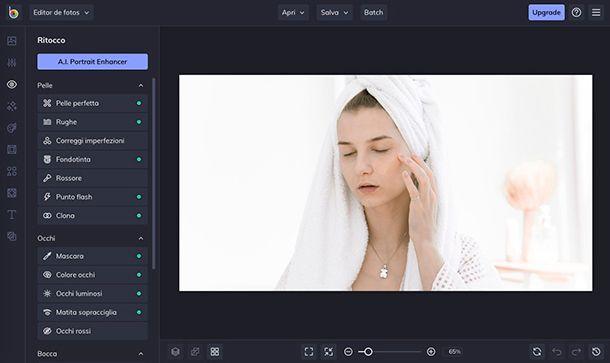 Come eliminare imperfezioni foto con ritocco di BeFunky
