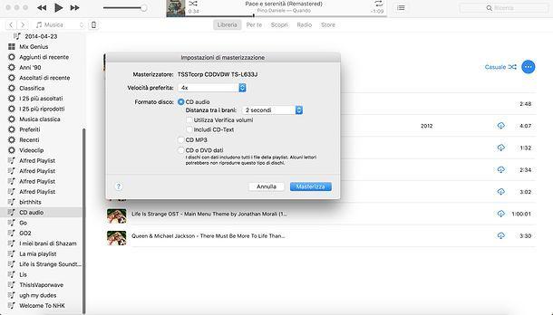 Come convertire MP3 in CD audio su Mac