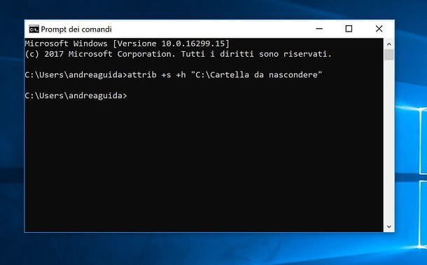 Come nascondere le cartelle su Windows