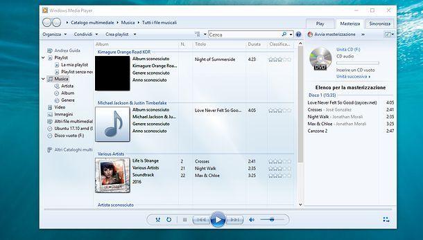 Come convertire MP3 in CD audio con WMP