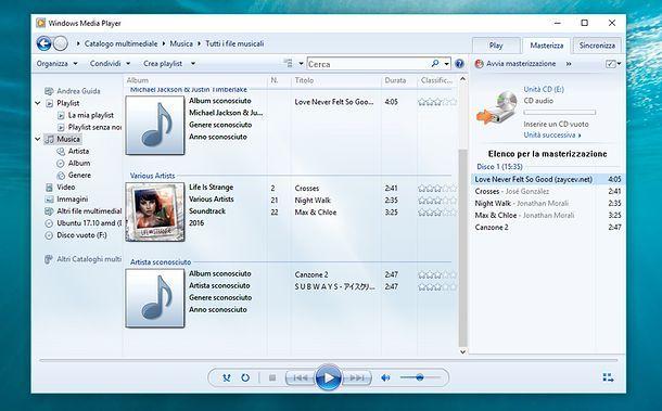 Come convertire MP3 in CD audio