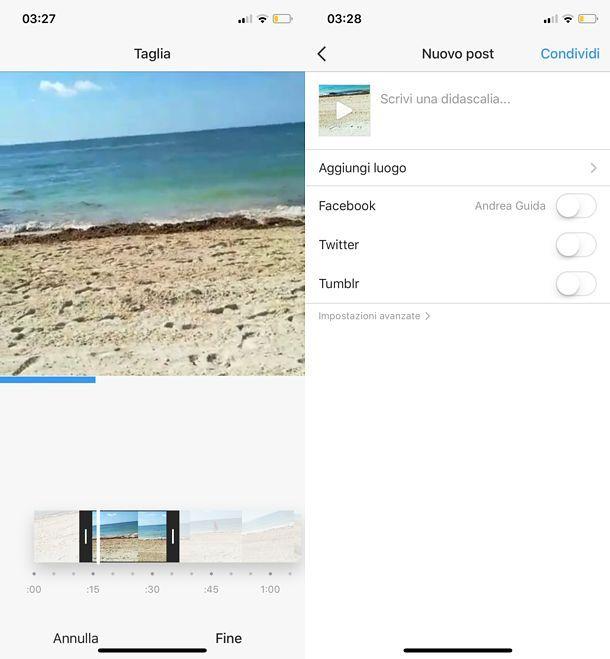 Come caricare video esterni su Instagram