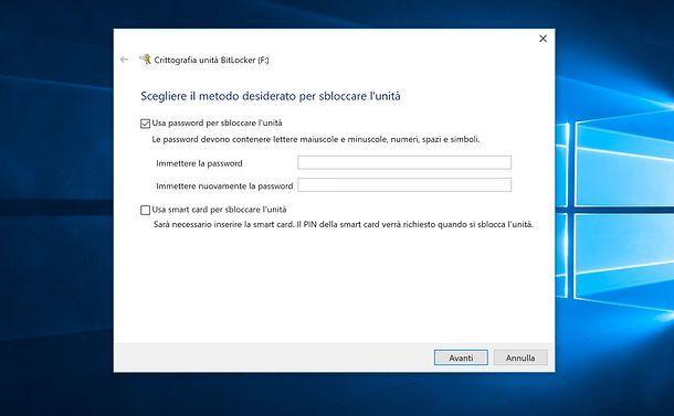 Come mettere la password ad una chiavetta USB