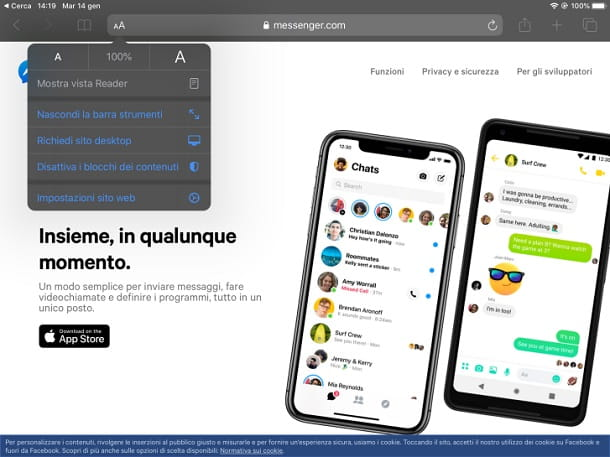 Messenger Safari