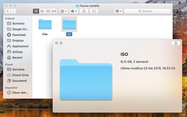 Come vedere dimensione delle cartelle su Mac