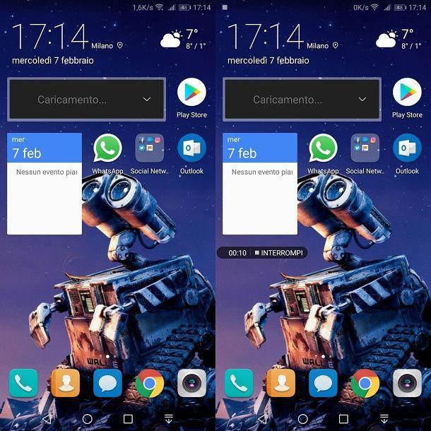 Funzione registrazione schermo Huawei