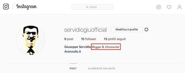 Come scrivere in corsivo su Instagram - ChimeraRevo