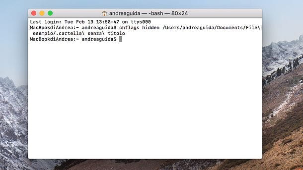 Come nascondere una cartella nel Mac