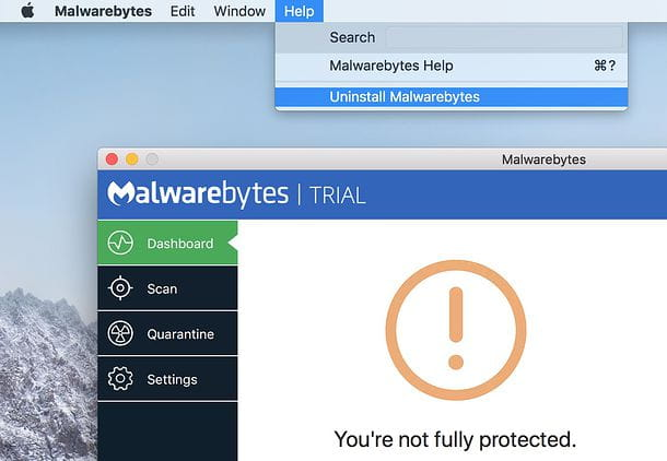 Disinstallare Malwarebytes for Mac