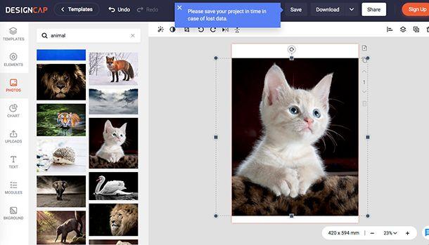 Come creare poster con DesignCap