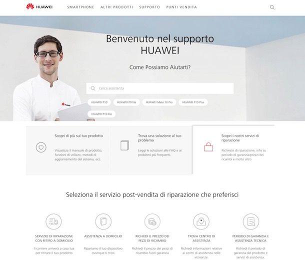 Assistenza Huawei
