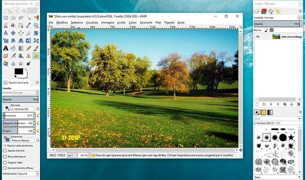 Come togliere le scritte dalle foto con GIMP