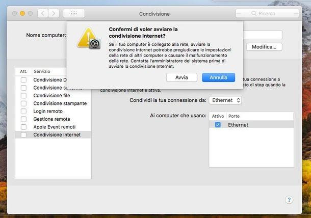 Come connettere il cellulare a Internet tramite Mac