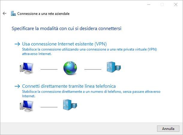 Come collegarsi a una VPN
