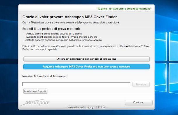 Attivare prova di MP3 Cover Finder