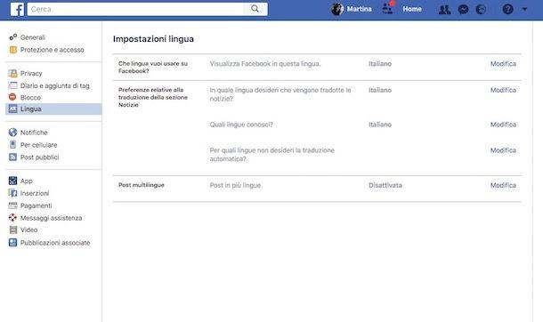 Come attivare la traduzione automatica su Facebook