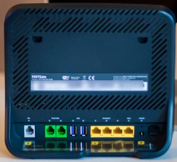 Come installare modem Fastweb