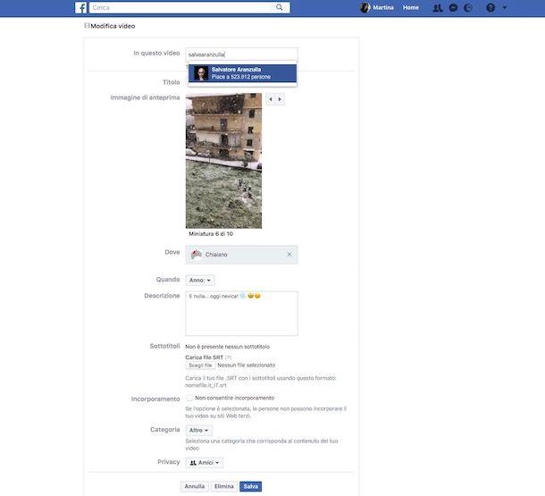 Come taggare una pagina su Facebook