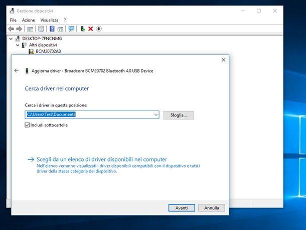 Installare stampante senza CD con Gestione Dispositivi Windows