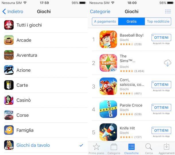 Scaricare giochi iphone gratis