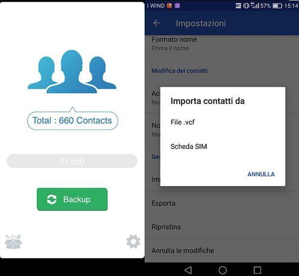 Come trasferire rubrica iOS Android