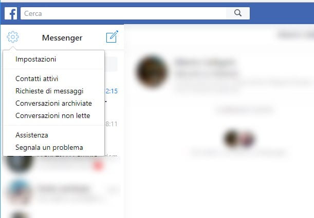 Recuperare messaggi Messenger da PC