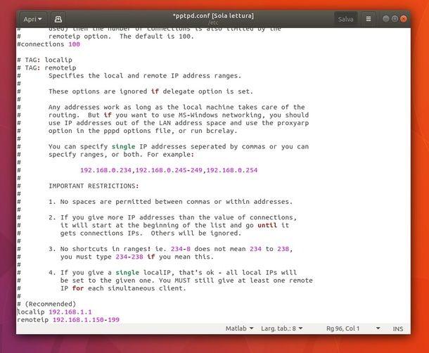 Come creare una VPN su Linux