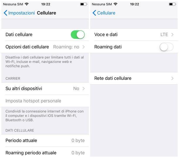 Come funziona il roaming su iOS
