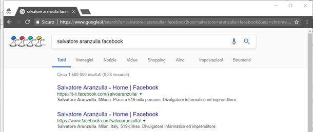 Utilizzare la ricerca tramite il browser