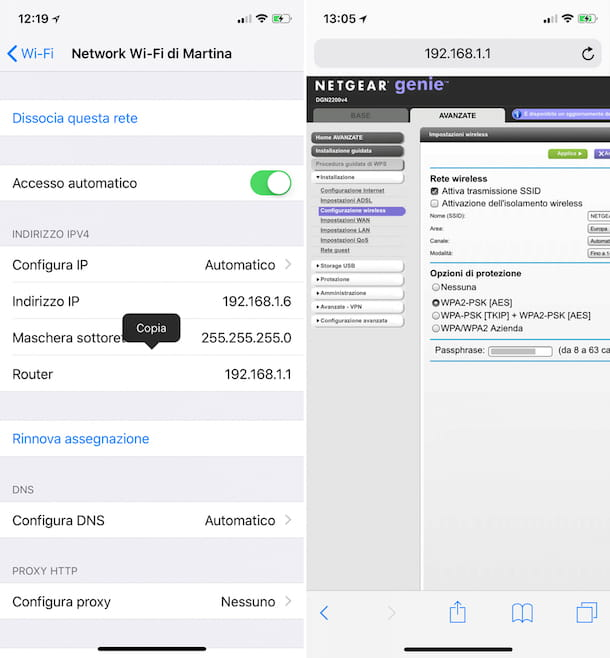 Come vedere la password del WiFi su iPhone