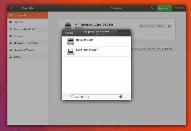 Come installare una stampante senza CD su Linux