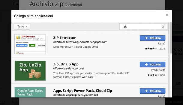how to use zip extractor on google drive