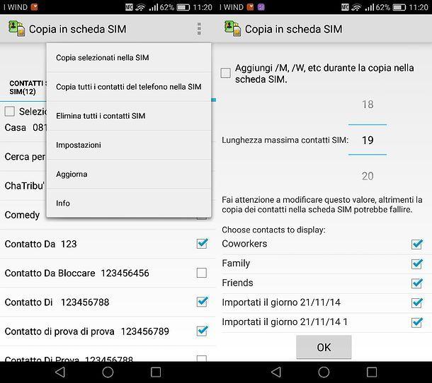 Come trasferire i contatti da una SIM all'altra