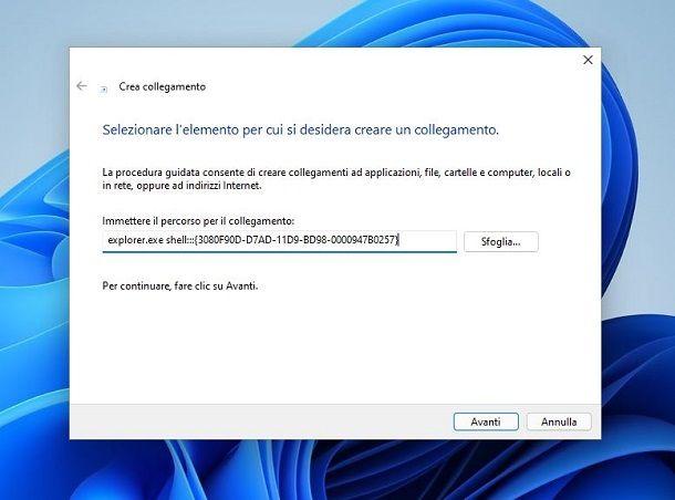 Mostra desktop Windows 11